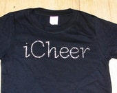 Cheer shirt, rhinestone