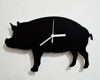 Pig Silhouette - Wall Clock