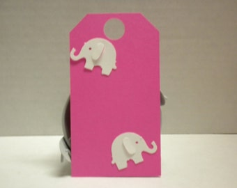 Elephant Baby Shower Gift Tags -Flower Gift Tags, Flower Tag, Gift Tag,Weddings, Bridal Shower, Parties, Tags, Gift Tags, Bags tags-BTGE-2