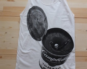 Andy Warhol Campbells Soup Can Art Pop Fashion T-Shirt Tank Top Vest