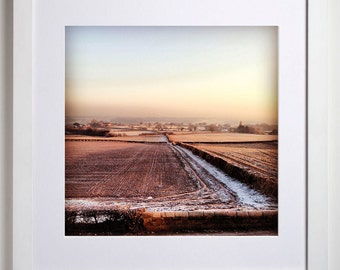 Winter is Coming, Photographic Art Print, Rich Winter Landscape, Cheshire