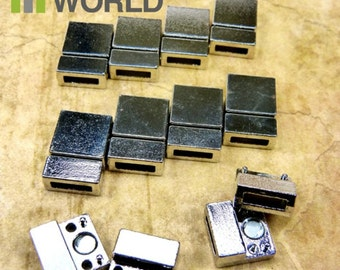 10x Magnetic Clasps TIBETAN SILVER  for bracelet and jewelry making.