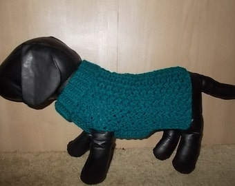 New Dark Teal Dog Turtleneck Sweater/Clothing Yorkie Chihuahua Terrier Small S
