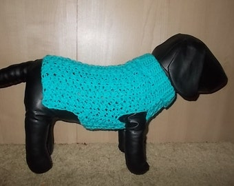 New Bright Blue Dog Turtleneck Sweater/Clothing Yorkie Chihuahua Terrier Small S Crochet