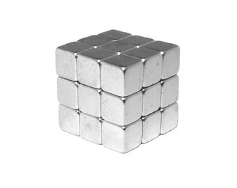 1/8 Inch (3.2 mm) Tiny Craft Neodymium Rare Earth Magnetic Cubes, Tiny Powerful Cube Magnets, N48 (27 Pack)