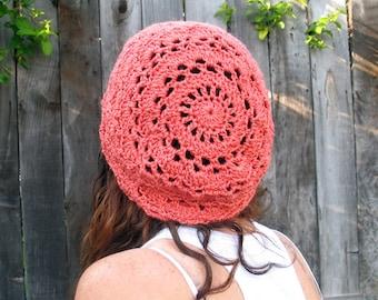 Crochet Pattern - Pineapple Coconut Slouchy Hat - PDF
