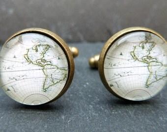 Cufflinks world traveller