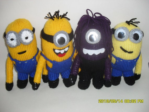 Despicable me minion and evil so cute knitting by TOYPATTERNS