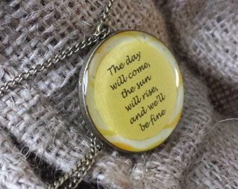 Avett Brothers Please Pardon Yourself Pendant Necklace