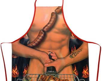 Barbeque Hot Dog BBQ Kitchen Novelty Apron - Free Shipping