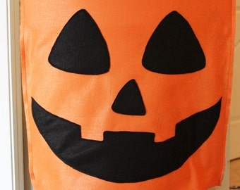 Pumpkin Halloween Chair Cover