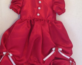 American Girl Red Satin Dress