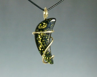 Foil Glass Cold Forged Pendant