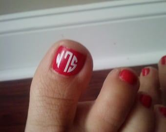 6 Monograms for Toenails  Free Shipping