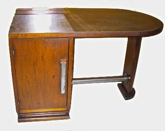 "Vintage French Art Deco ""Bureau En Bois"" Desk"