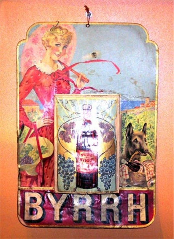 Antique fran ais byrrh ap ritif publicit calendrier 1931 for Portent traduction francais