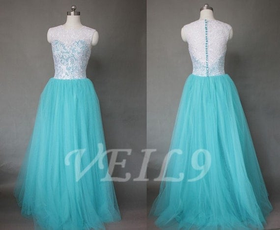 Items similar to retro a line beach wedding dress long for Turquoise bridesmaid dresses for beach wedding