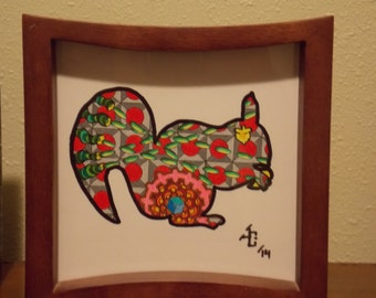 Squirrel Original Framed Art