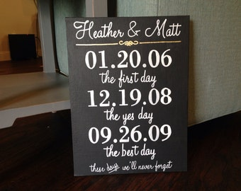 First Day, Yes Day, Best Day Wedding & Anniversary Gift