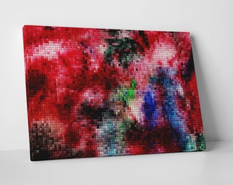 Colorful Pixel Mosaic. Gallery Wrapped Canvas Print