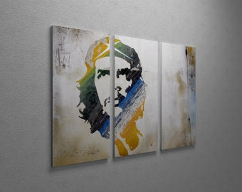 Che Guevera Gallery Wrapped Canvas Triptych Print