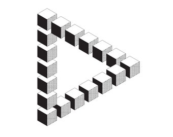 Penrose Triangle Cubes Popular items for opti...