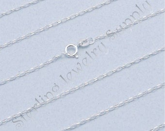 20 Inch Sterling Silver 1.5mm Long Link Rolo Chain, Solid 925 Sterling, Wholesale Chain, USA Seller, Fast Shipping (CS106-20)