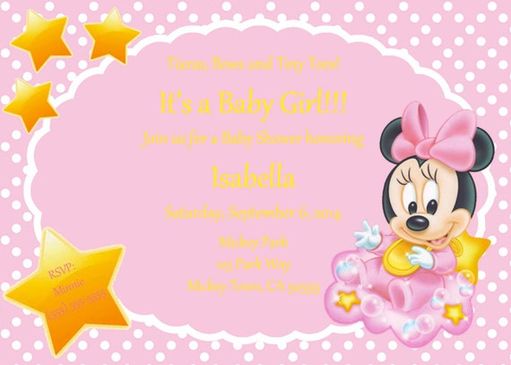 minnie mouse baby shower invitation can be done in spanish, Baby shower invitations