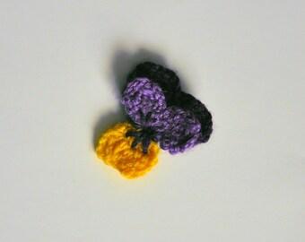 Crochet Violette Brooch