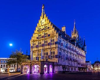 Netherlands - Gouda - Gothic city hall - SKU 0062
