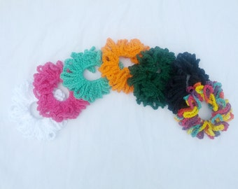 Hand Crocheted Hair Scrunchie