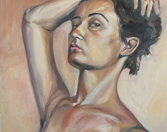 2003 oil painting lady portrait