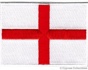 ENGLAND FLAG PATCH iron-on embroidered applique Top Quality St. George's Cross British Emblem