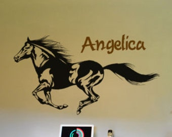 Horse decal-Horse sticker-Personalized decal-Wall decor-Personalized sticker-20 X 36 inches