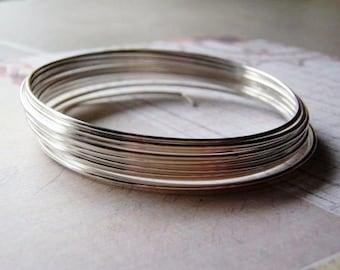 Argentium Sterling Silver Round Wire // Half Hard Non-Tarnish // 3 feet
