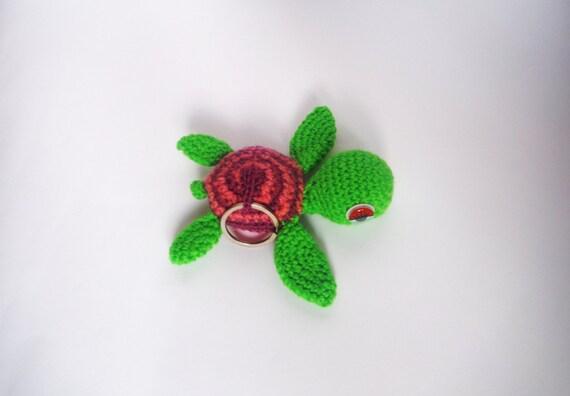 Amigurumi Tortuga Ninja Paso A Paso : Art?culos similares a Llavero tortuga amigurumi ganchillo ...