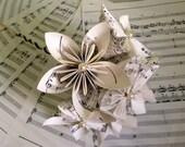 music sheet paper flower bouquet