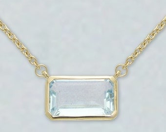 Crystal Aura Necklace-Blue