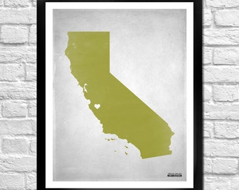 California State Map Personalized Art Print