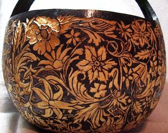 Popular items for gourd basket on etsy for Gourd carving patterns