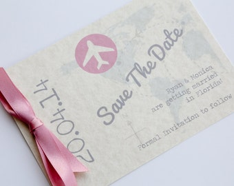 Travel Postcard Save the Date