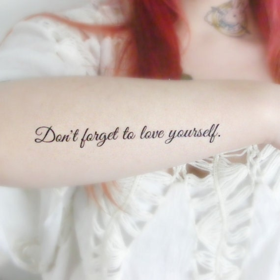 Quote Temporary Tattoo Motivational Positive Unique By