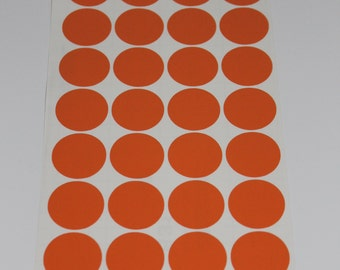 Vinyl Polka Dots - 1.25 inch Vinyl Polka Dots, Pick Your Color for Crafts and Wall Decorating - 32 dots