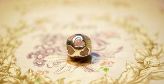 Pandora Charm LOVE YOU PINK HEART Valentine's Day