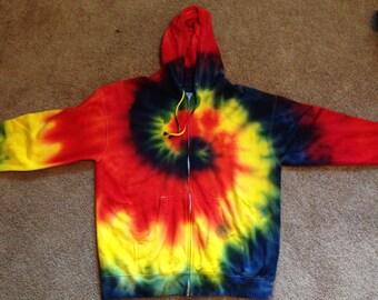 Vibrant tie-dyed hoodies