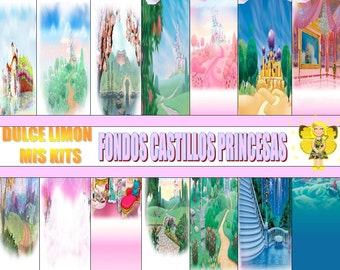 Images funds Kit Disney princesses castles !!!!!