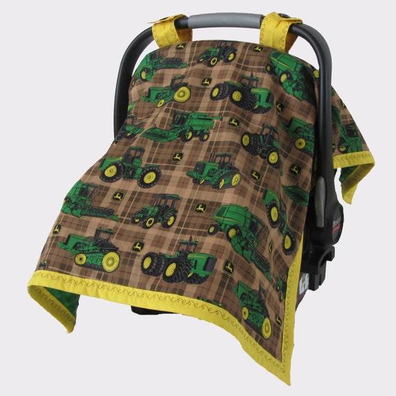 john deere handmade baby car seat canopy car seat cover. Black Bedroom Furniture Sets. Home Design Ideas