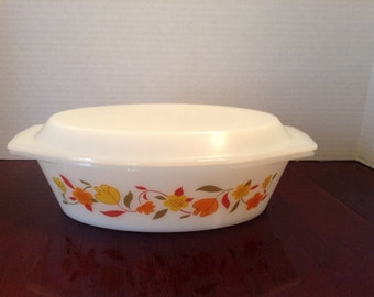 On Sale** Vintage Corning Ware 2 Quart Casserole with Lid  Wildflower Pattern~Virginia Vintage