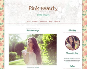 blogger Template - Beauty Template blogger - Responsive Blog Template - Blog Template - Blogger Theme