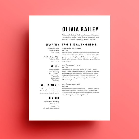 this resume template uses right aligned text effectively the key is to format only short pieces of information this way - Common Resume Format